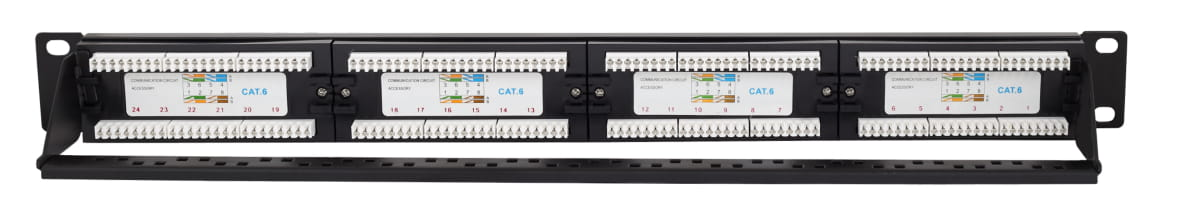 Cat6 UTP 24 Port Patch Panel